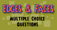Edges and Faces : Multiple Choice Questions - Shapes - Second Grade