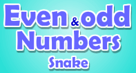 Even and Odd Numbers Snake - Whole Numbers - Second Grade