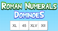 Roman Numerals Dominoes - Roman Numerals - Second Grade