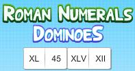 Roman Numerals Dominoes - Roman Numerals - Second Grade
