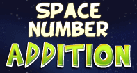 Space Number Addition - Addition - Second Grade