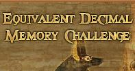 Equivalent Decimal Memory Challenge - Decimals - Fourth Grade