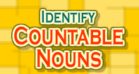 Identify Countable Nouns - Noun - Third Grade