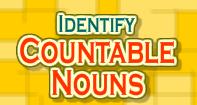 Identify Countable Nouns - Noun - Third Grade