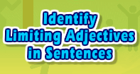 Identify Limiting Adjectives in Sentences - Adjectives - Third Grade
