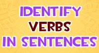 Identifying Verbs in Sentences - Verb - Third Grade