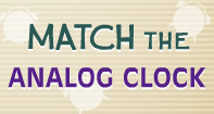 Match the Analog Clock - Date and Telling Time - Second Grade