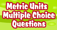 Metric units Multiple choice questions - Units of Measurement - Third Grade