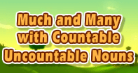 Much and Many with Countable - Uncountable Nouns - Noun - Third Grade