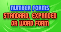 Number Forms: Standard, Expanded or Word Form - Whole Numbers - Third Grade