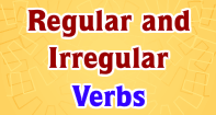 Regular and Irregular Verbs - Verb - Third Grade