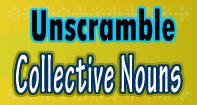 Unscramble Collective Nouns - Noun - Third Grade