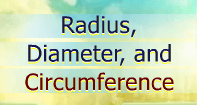 Radius, Diameter, and Circumference