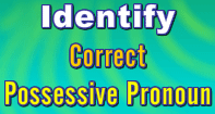 Identify Correct Possessive Pronouns