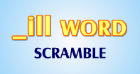 Ill Words Scramble - -ill words - Second Grade