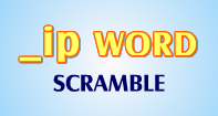 Ip Words Scramble - -ip words - First Grade