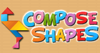 Compose Shapes - Skill and Strategy Games - Kindergarten