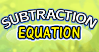 Subtraction Equation - Subtraction - Kindergarten