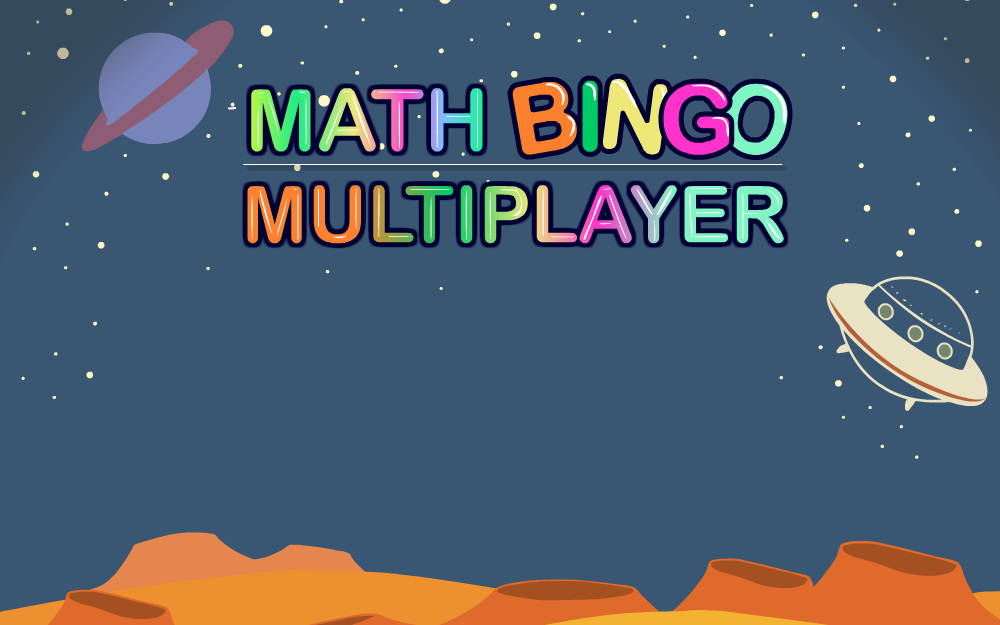 Math Bingo Multiplayer - Mixed Operations - Kindergarten