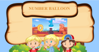 Number Balloon - Counting - Preschool