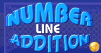 Number Line Addition - Addition - First Grade