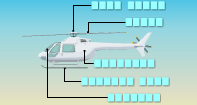 Parts of a Helicopter Labeling - Vocabulary - First Grade