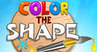 Color the Shape - Shapes - Preschool