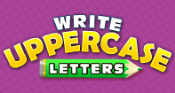 Write Uppercase Letters - Alphabet - First Grade