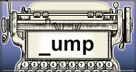Ump Words Speed Typing - -ump words - First Grade