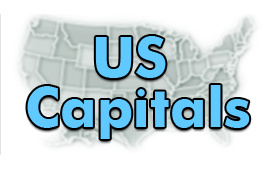 US States Capitals - Map Games - Third Grade