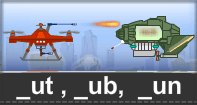 Ut Ub Un Words Typing Aircraft - -ut words - First Grade