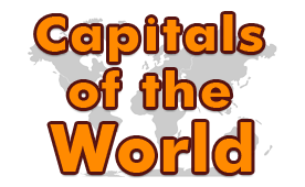 Capitals of the World - Map Games - First Grade