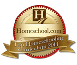 Top homeschool curriculum award badge