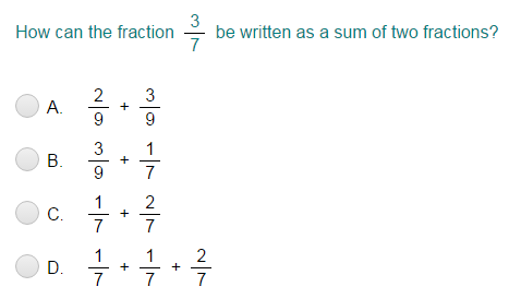 Decompose Fractions Quiz - Turtle Diary