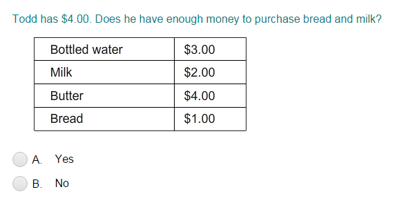 Price Lists with Addition and Subtraction