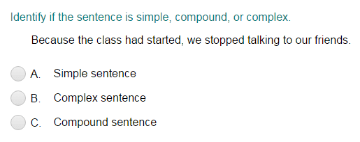 identifying sentences as simple compound or complex quiz turtle diary