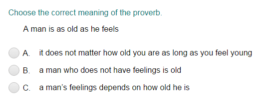 Determining the Meaning of a Proverb