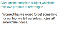 Identifying Subject of the Reflexive Pronoun