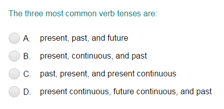 Verb Tenses - A Review