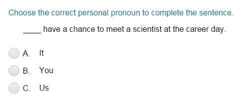 Choosing the Correct Personal Pronoun Part 2