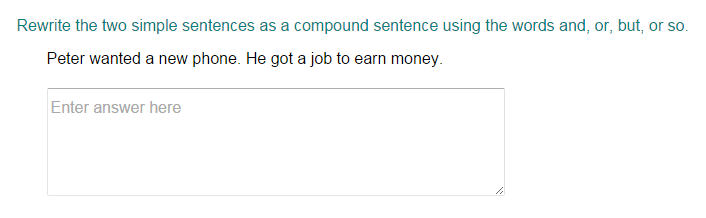 Combining Two Simple Sentences to Form a Compound Sentence