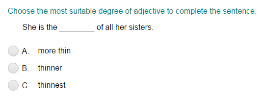 Choosing the Correct Degree of Adjective Part 1