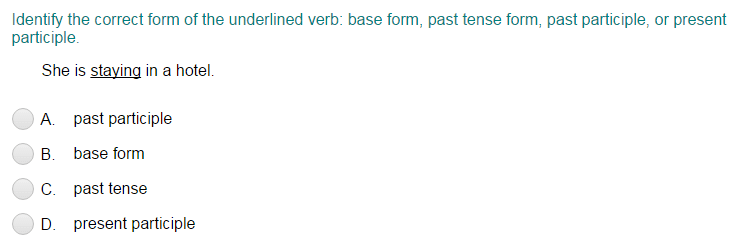 Correct form of the Verb