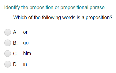 Identifying Preposition and Prepositional Phrase