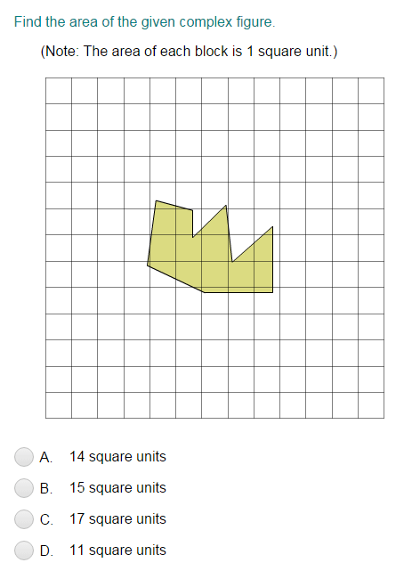 Area of Irregular Figures on Graphs