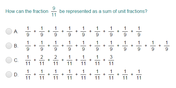 Decompose Fractions into Unit Fractions