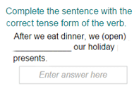 Completing the Sentence with Correct Tense Form Part 2