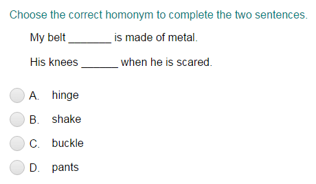 Using the Correct Homonym to Complete Two Sentences Part 2