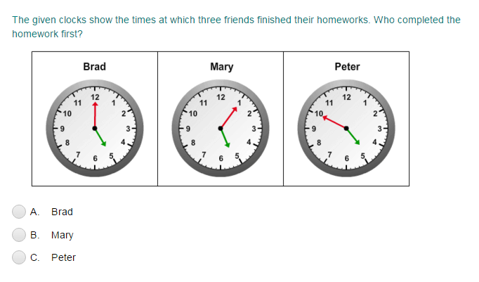 Comparing Clocks
