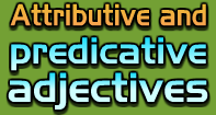 Attributive and Predicative Adjectives Video